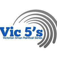 Vic5s paintball tournament logo